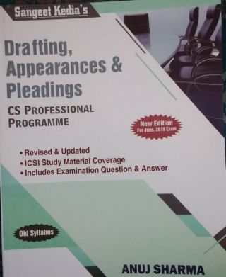 Drafting,Appearances & Pleadings For CS Professional Programme Old Syllabus June 2019 Exam BY Anuj Sharma  Sangeet Kedia's