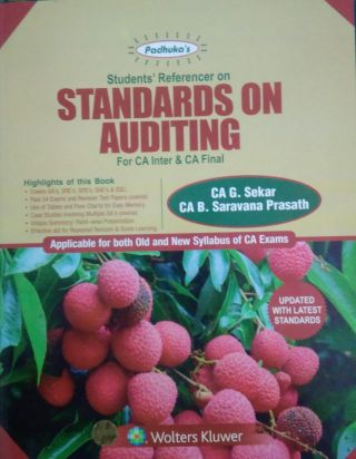 A Students' Handbook on Standards on Auditing  for CA Inter &  CA Final Old & New syllabus BY CA G. Sekar, CA B. Saravana Prasath  Wolters Kluwer