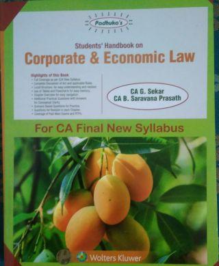 A Students' Handbook on Corporate & Economic Law  CA Final New syllabus BY CA G. Sekar, CA B. Saravana Prasath  Wolters Kluwer