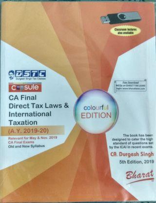 CA Final Direct Tax Laws & International Taxation (A.Y. 2019-20) By CA. Durgesh Singh