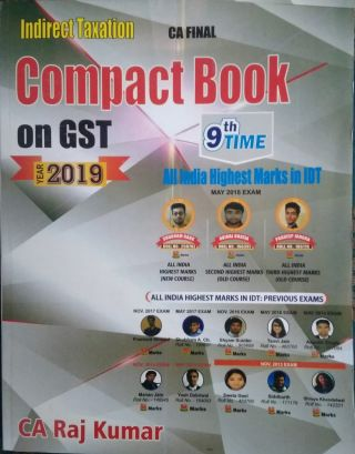 Compact Book on GST ( Indirect Taxation ) For CA Final BY Raj Kumar