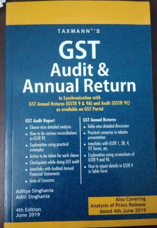 Taxmann's GST Audit & Annual Return  BY Aditya  &  Aditi Singhania  Taxmann Publications Pvt. Ltd.