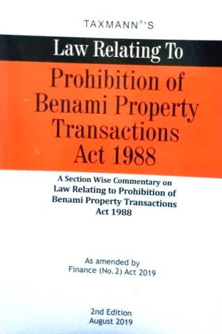 Taxmann's Law Relating to Prohibition of Benami Property Transactions Act 1988