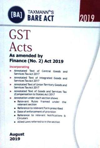 Taxmann's Gst Acts with Rules (As Amended by Finance (No.2) Act 2019)