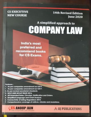 CS EXECUTIVE NEW COURSE A SIMPLIFIED APPROACH TO COMPANY LAW INDIA,S MOST PREFERRED AND RECOMMEND BOOKS FOR CS EXAMS