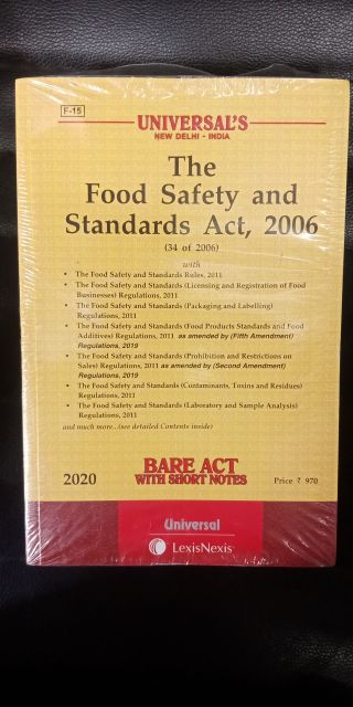 Food Safety And Standards Act,2006 ( Edition 2020) (Paperback, Editorial Board of Universal Law Publishing)