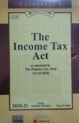 Income Tax Act [as Amended By The Finance Act, 2020]  (Paperback, Editorial Board)